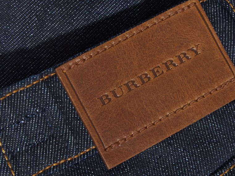 Skinny Fit Indigo Jeans in Dark - Girl | Burberry United Kingdom - cell image 1
