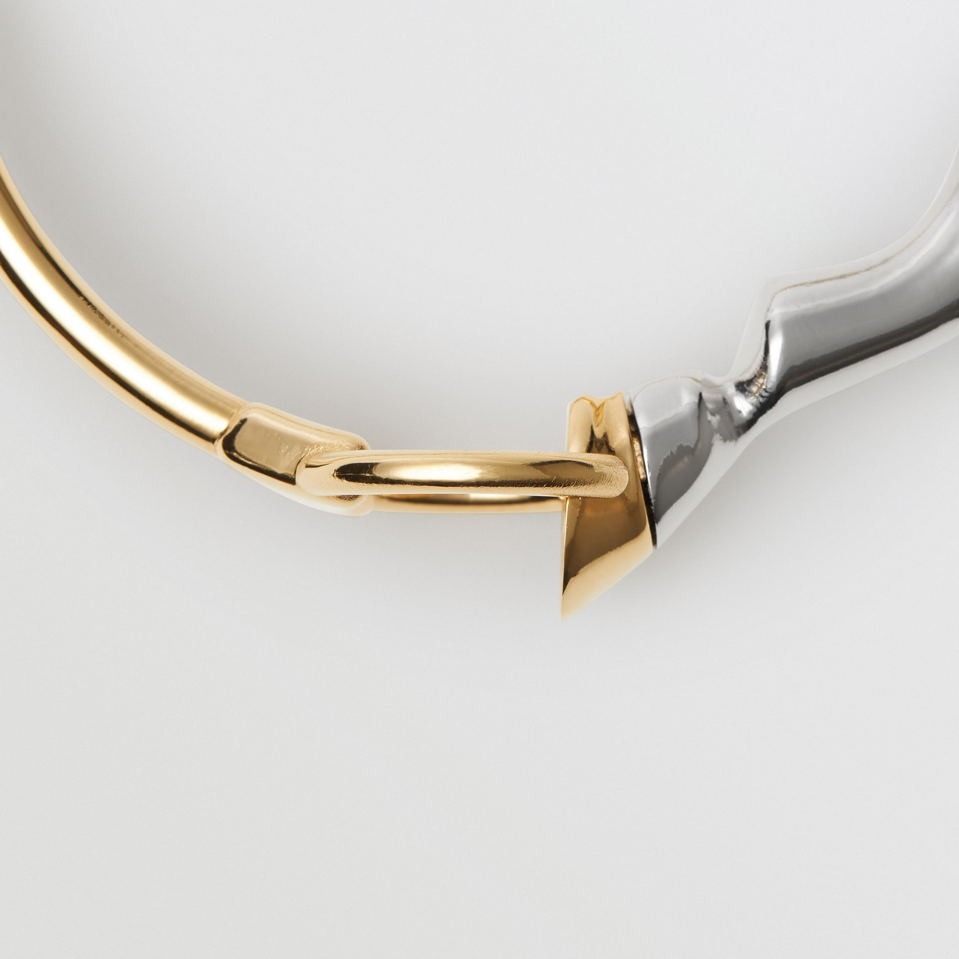 Gold and Palladium-plated Hoof and Hoop Bracelet in Light Gold/palladium - Women | Burberry - gallery image 1