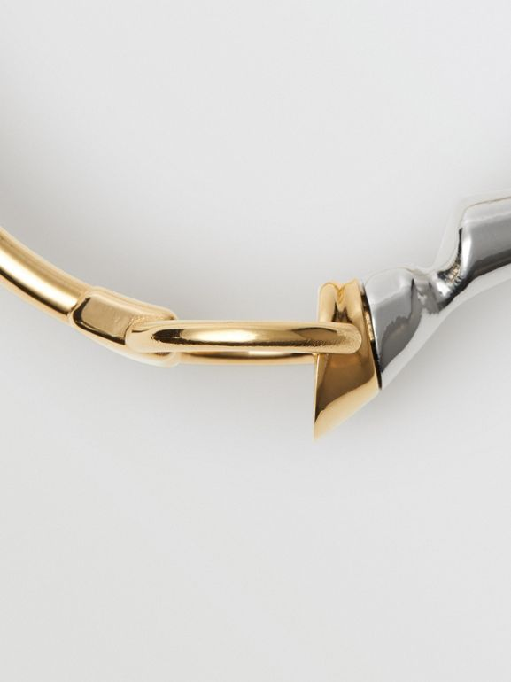 Gold and Palladium-plated Hoof and Hoop Bracelet in Light Gold/palladium - Women | Burberry Hong Kong - cell image 1