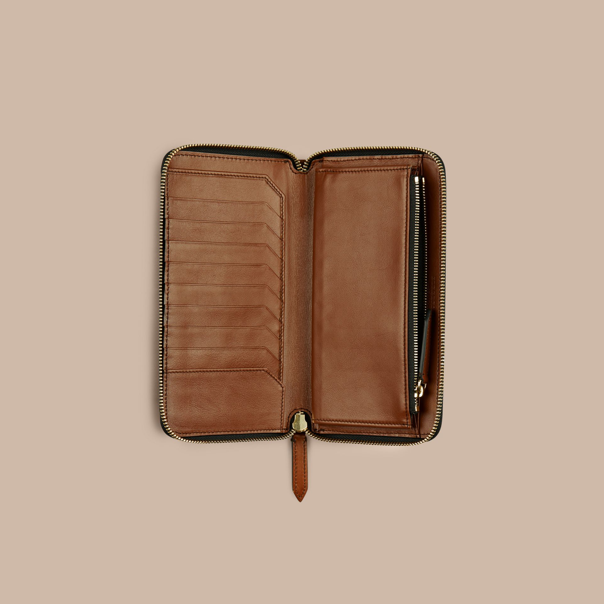 Tan Horseferry Check Ziparound Wallet Tan - gallery image 4