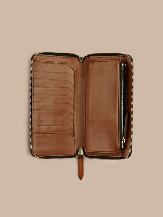 Horseferry Check Ziparound Wallet in Tan - cell image 3