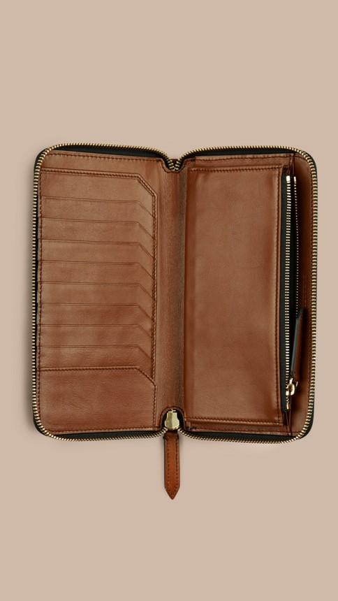 Tan Horseferry Check Ziparound Wallet Tan - Image 4