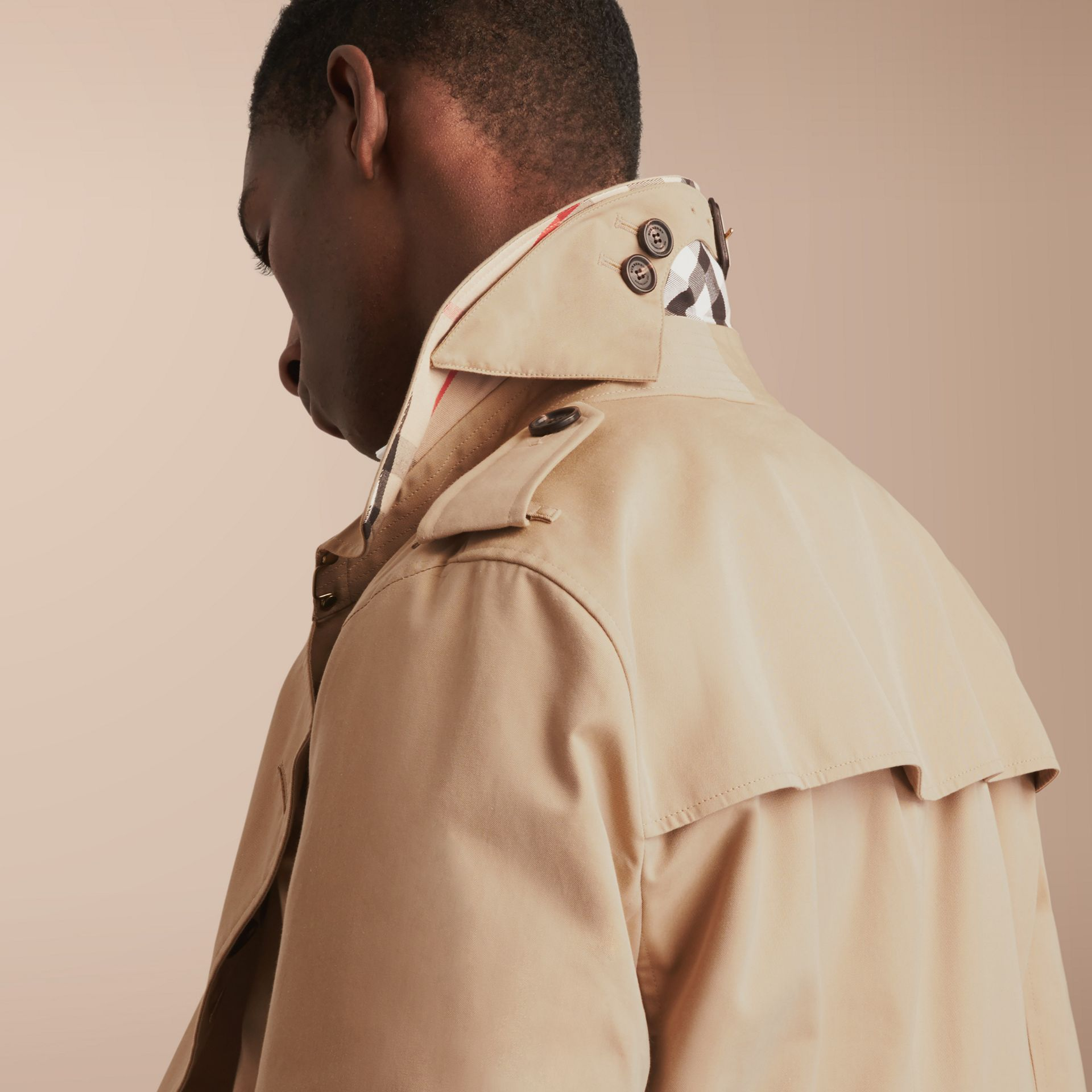 The Kensington – Short Heritage Trench Coat in Honey - gallery image 6