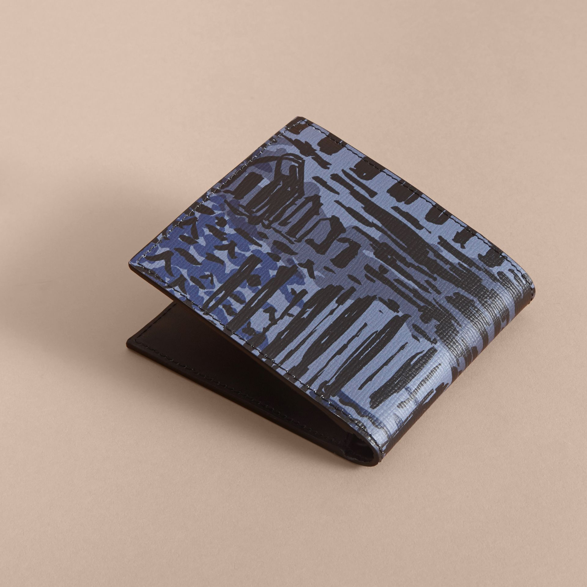British Seaside Print London Leather Folding Wallet - gallery image 4