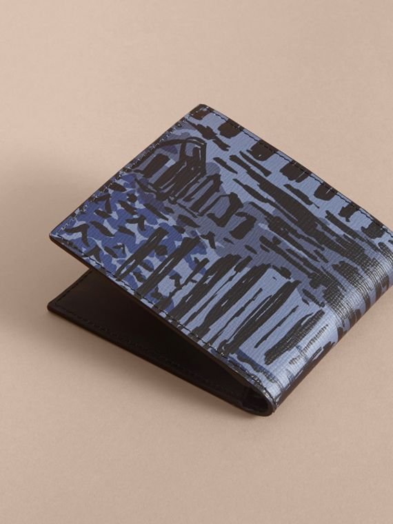 British Seaside Print London Leather Folding Wallet - cell image 3