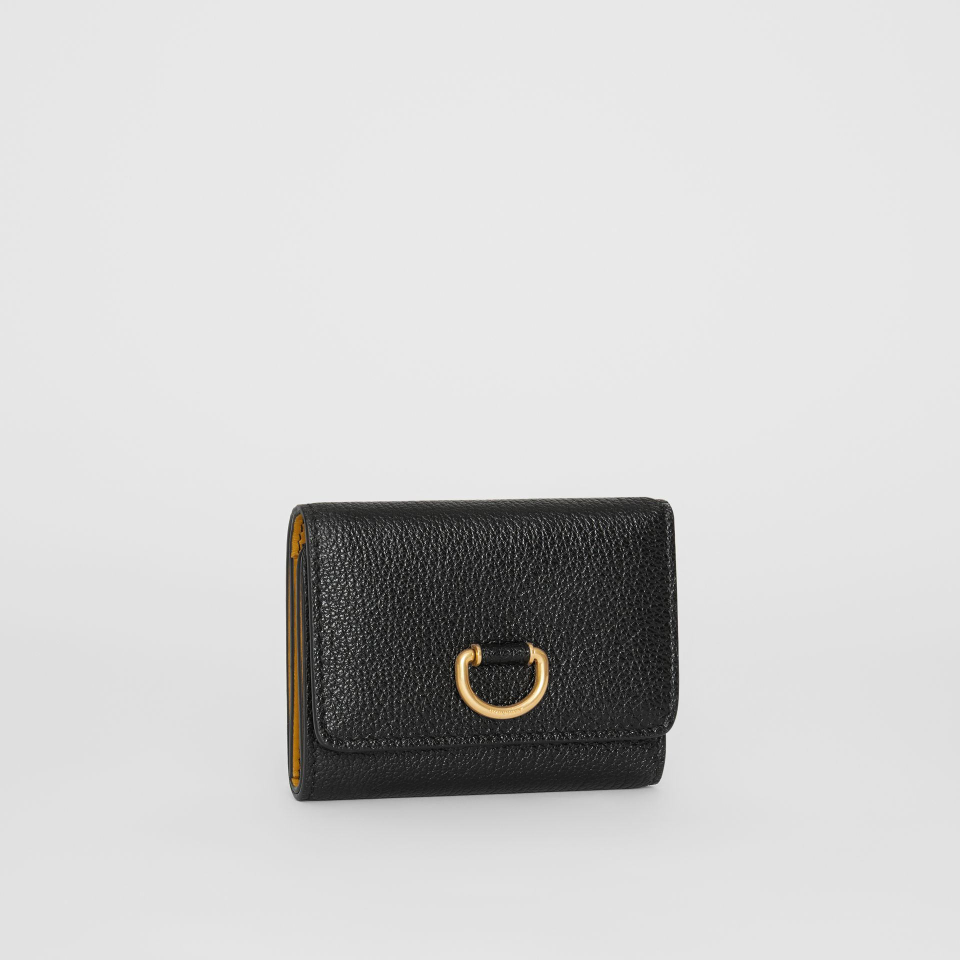 Small D-ring Leather Wallet in Black - Women | Burberry United Kingdom - gallery image 3