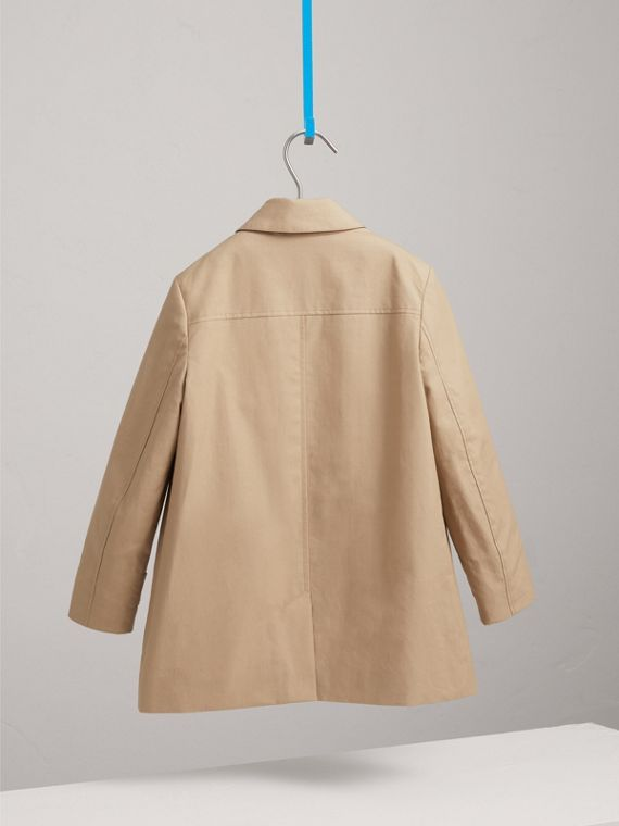 Mercerised Cotton Car Coat in Honey - Boy | Burberry - cell image 3