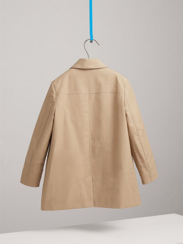 Mercerised Cotton Car Coat in Honey | Burberry - cell image 3