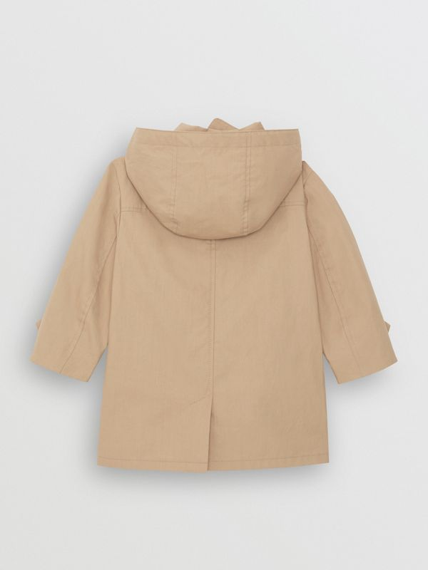 Detachable Hood Cotton Car Coat in Honey - Children | Burberry - cell image 3