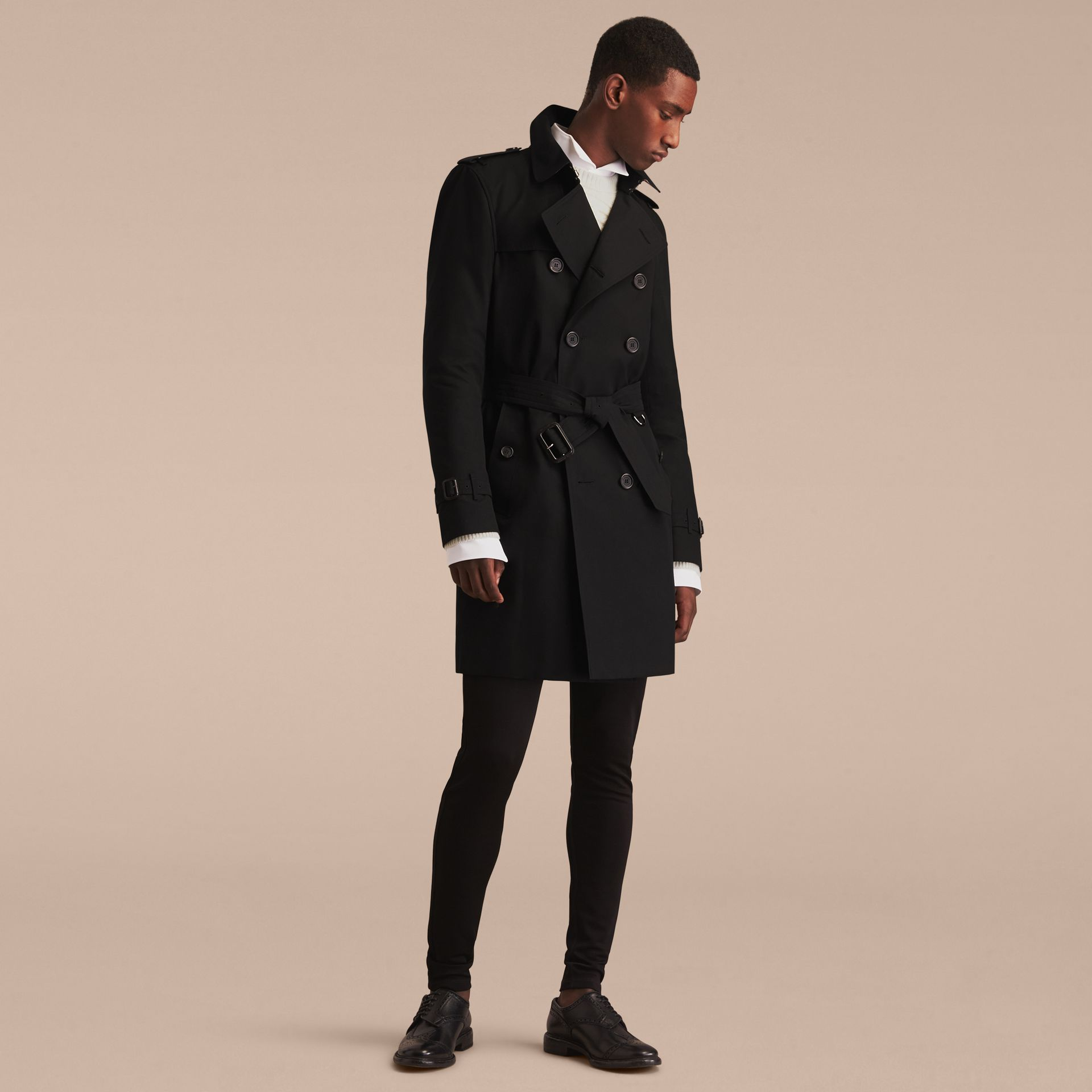 Black The Kensington – Long Heritage Trench Coat Black - gallery image 9