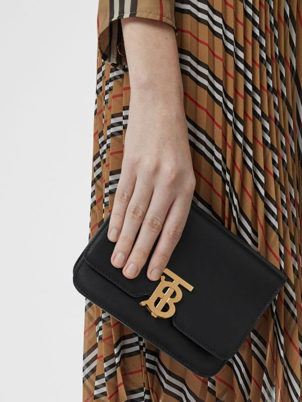 Belted Leather TB Bag in Black - Women | Burberry Hong Kong - cell image 2