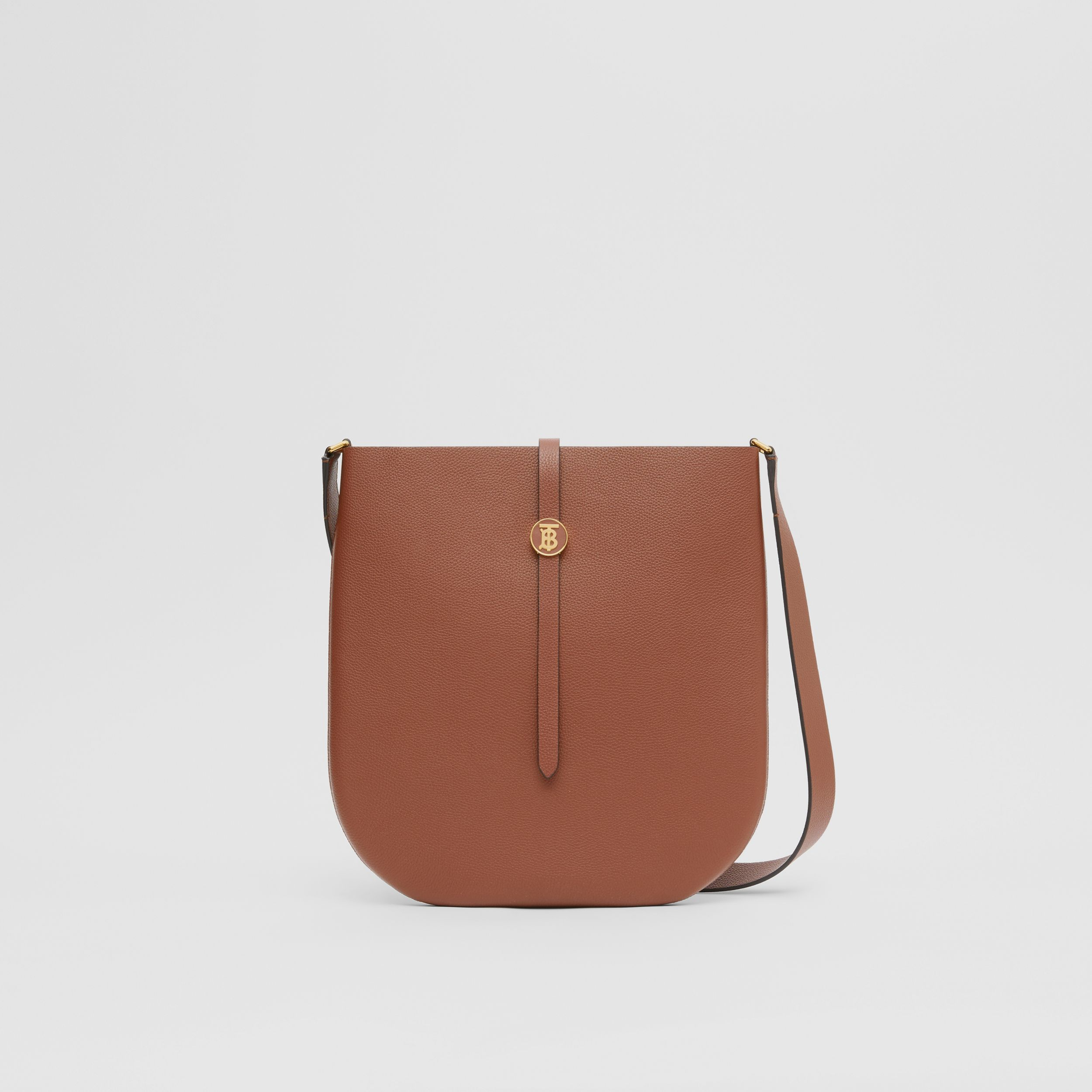 Grainy Leather Anne Bag in Tan - Women | Burberry Australia - 1