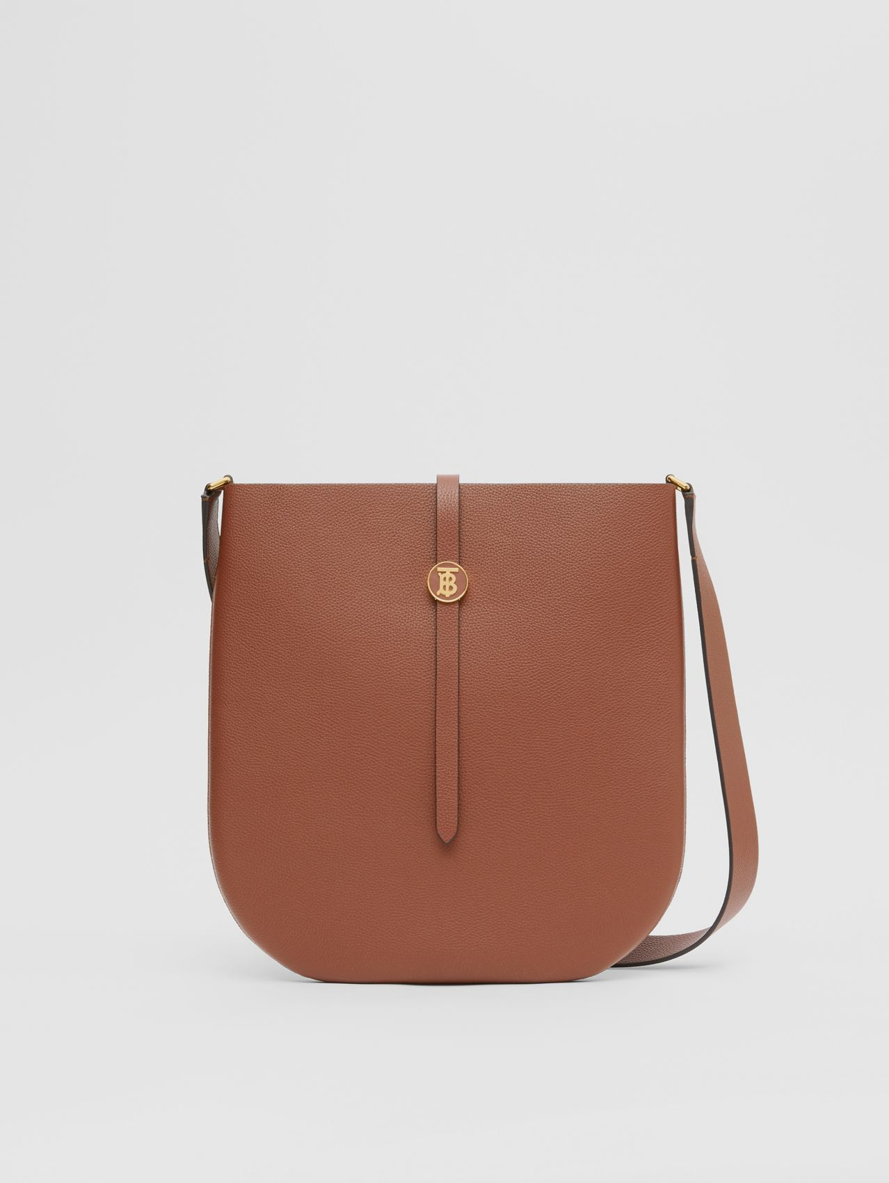 Grainy Leather Anne Bag in Tan