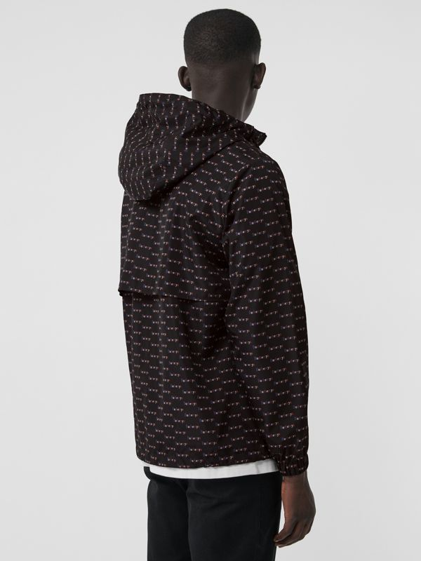 Archive Logo Print Lightweight Hooded Jacket in Black - Men | Burberry - cell image 2