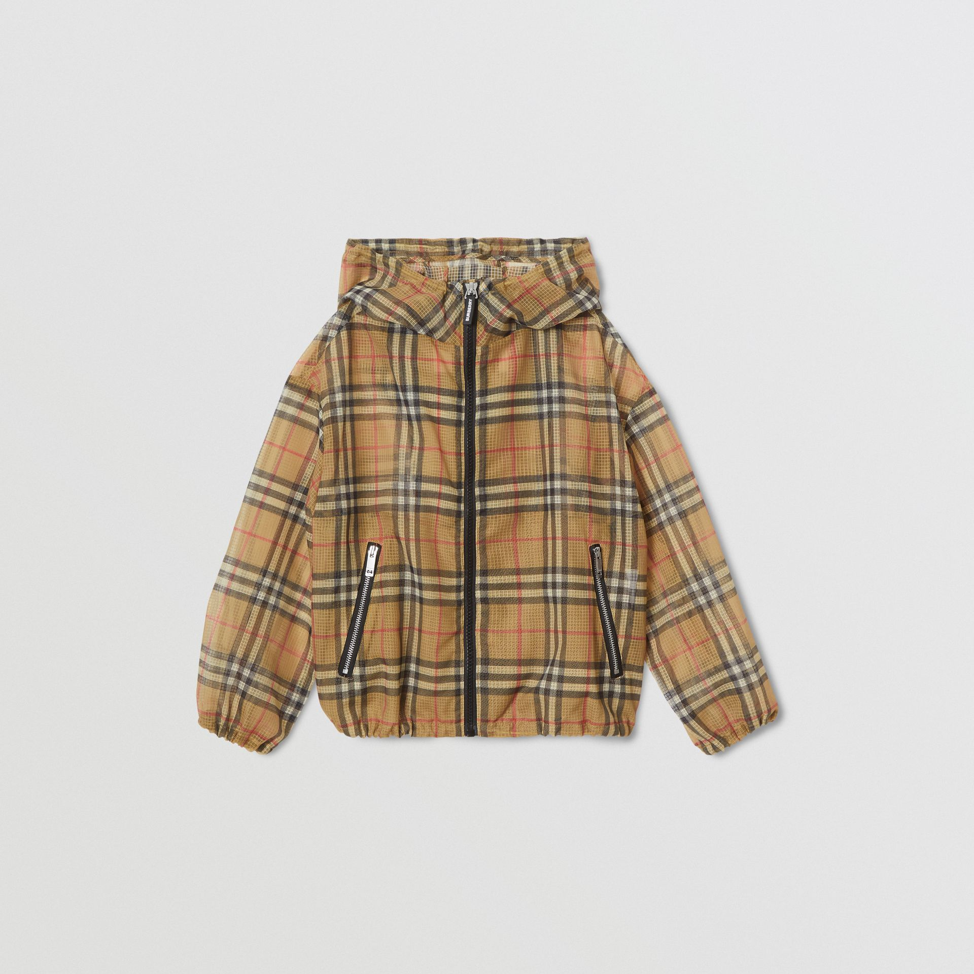 Lightweight Vintage Check Hooded Jacket in Antique Yellow | Burberry - gallery image 0