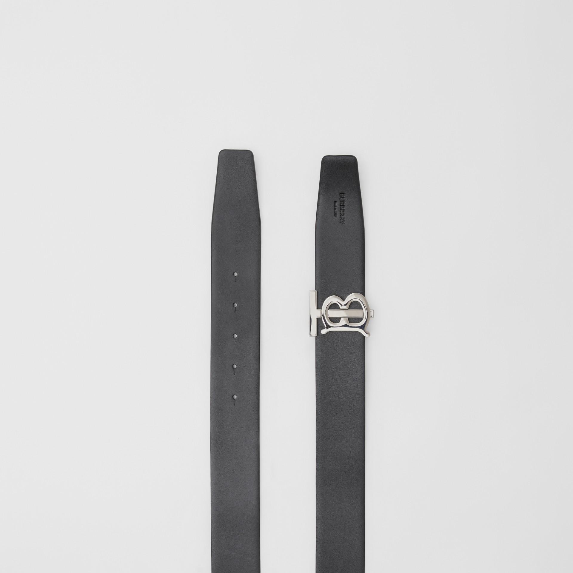 Reversible Monogram Motif Grainy Leather Belt in Military Red/black - Men | Burberry United Kingdom - gallery image 7