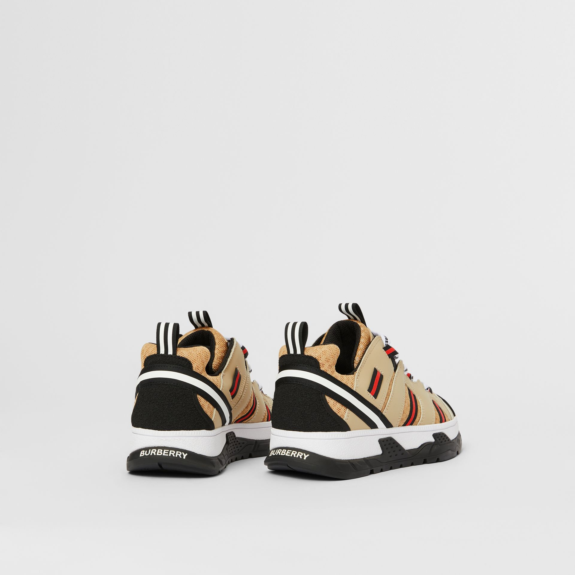 Nubuck and Mesh Union Sneakers in Archive Beige - Children | Burberry Singapore - gallery image 2