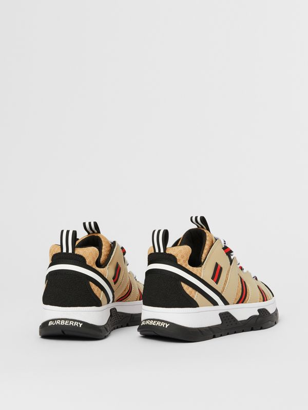 Nubuck and Mesh Union Sneakers in Archive Beige - Children | Burberry - cell image 2