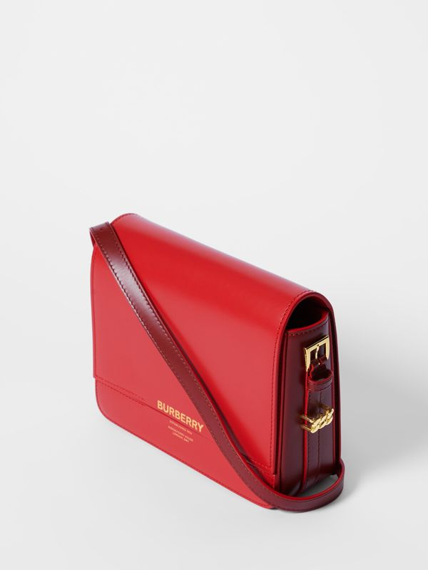 Small Two-tone Leather Grace Bag in Bright Red/burgundy - Women | Burberry - cell image 3