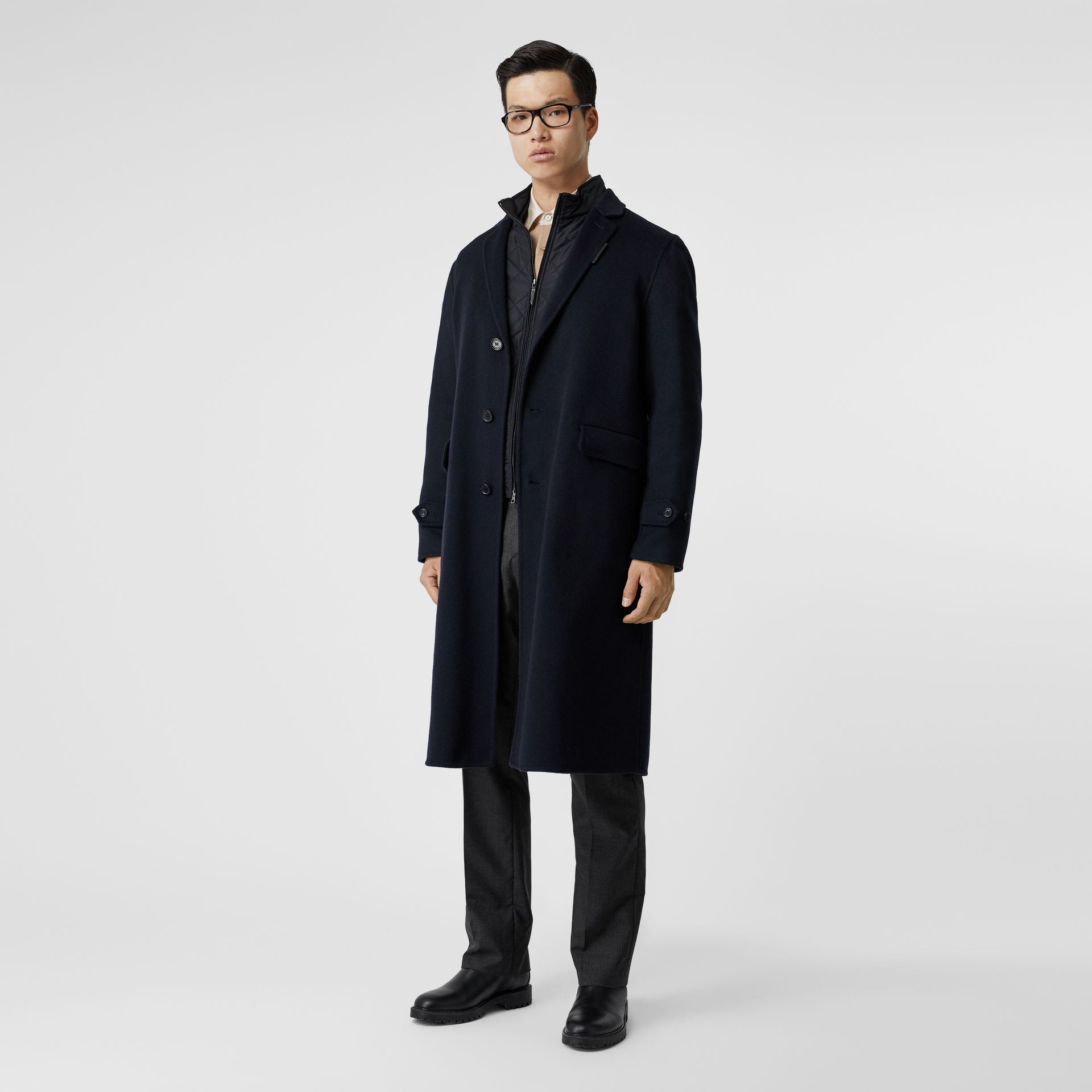 Cashmere Lab Coat in Navy - Men | Burberry - gallery image 0