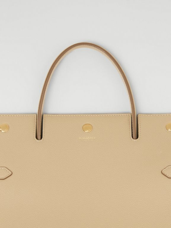 Medium Leather Title Bag in Honey - Women | Burberry - cell image 1