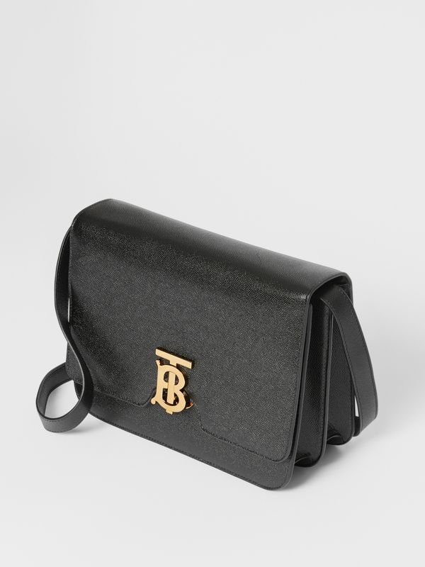 Medium Grainy Leather TB Bag in Black - Women | Burberry Australia - cell image 3