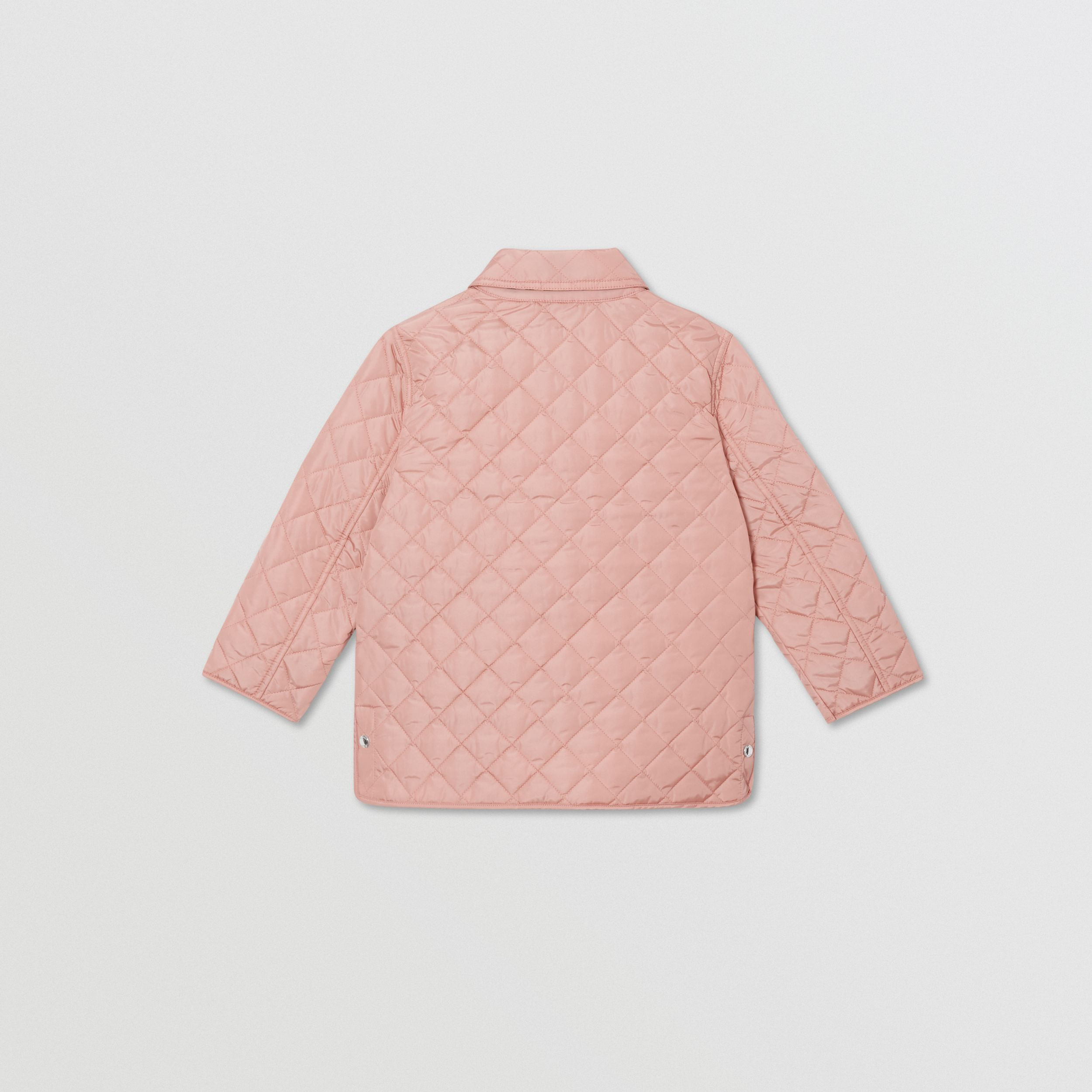 Lightweight Diamond Quilted Jacket in Dusty Pink | Burberry - 4