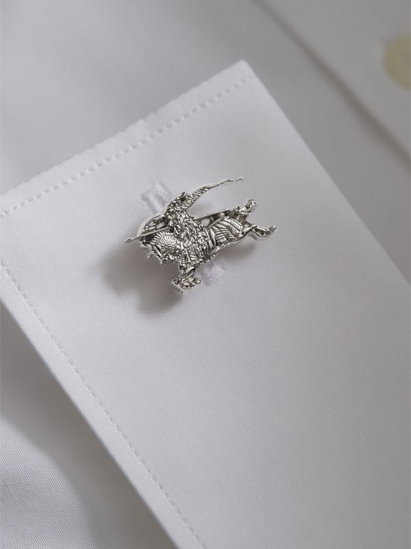 Equestrian Knight Cufflinks in Silver - Men | Burberry - cell image 2