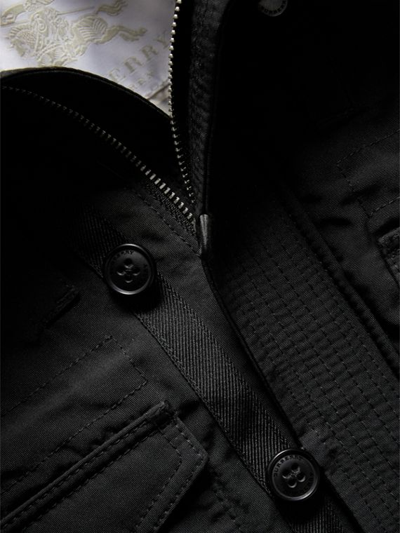 Down-filled Jacket with Faux-fur-lined Hood in Black | Burberry - cell image 3