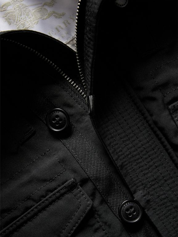 Down-filled Jacket with Faux-fur-lined Hood in Black | Burberry - cell image 1