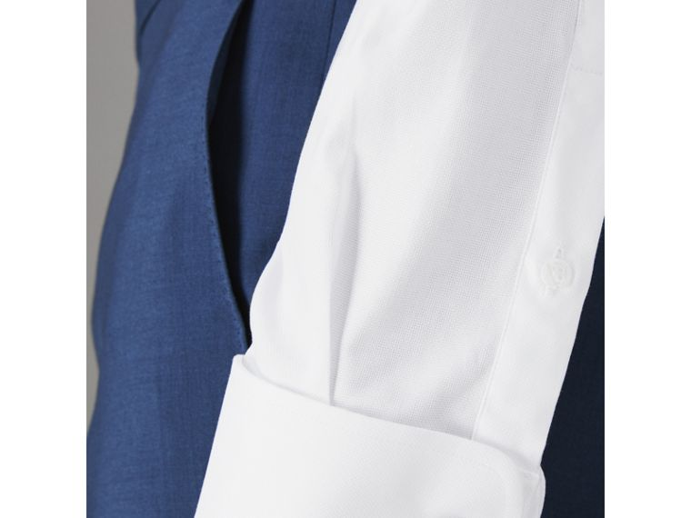 Modern Fit Double Cuff Cotton Shirt in White - Men | Burberry Singapore - cell image 1