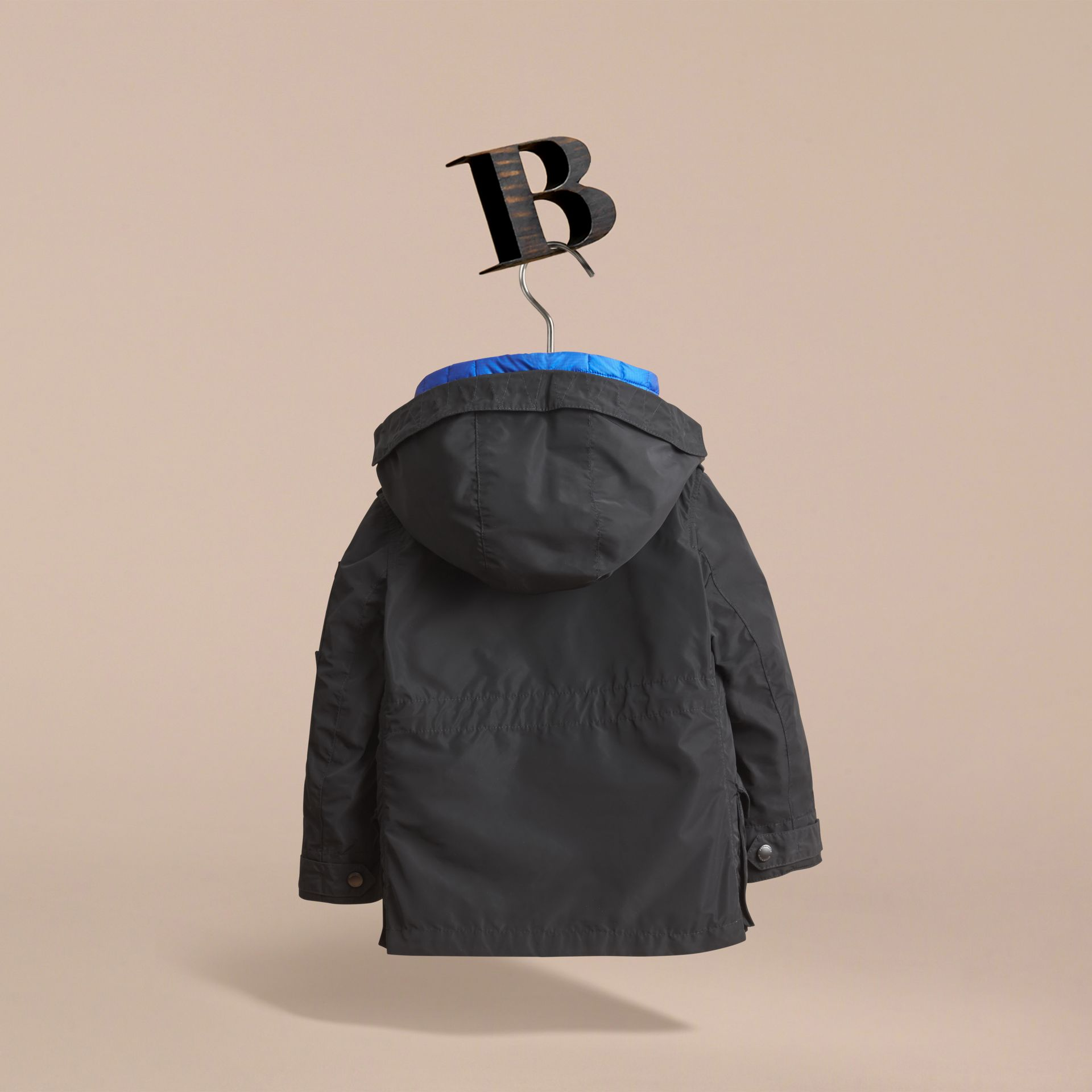 Detachable Hood Coat with  Down-filled Gilet in Black - Boy | Burberry - gallery image 4