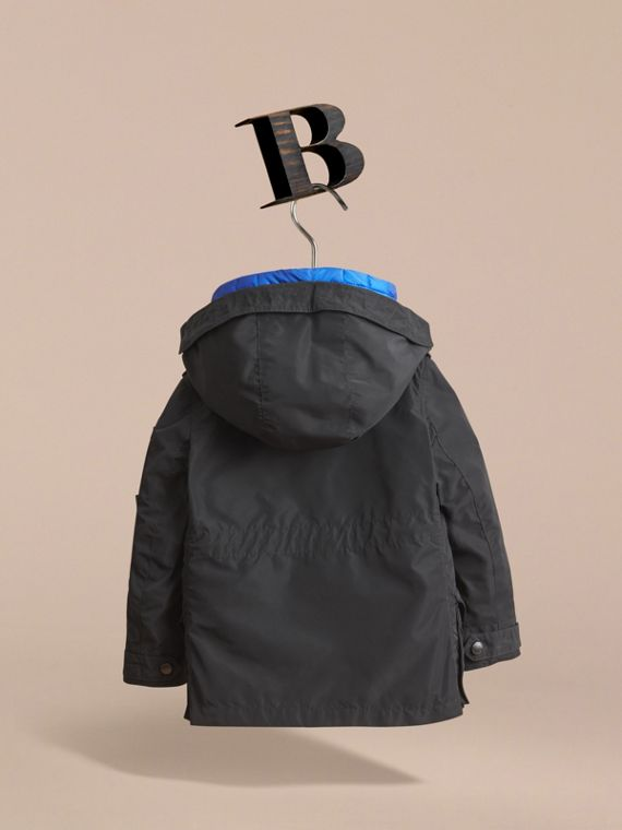 Detachable Hood Coat with  Down-filled Gilet in Black - Boy | Burberry - cell image 3