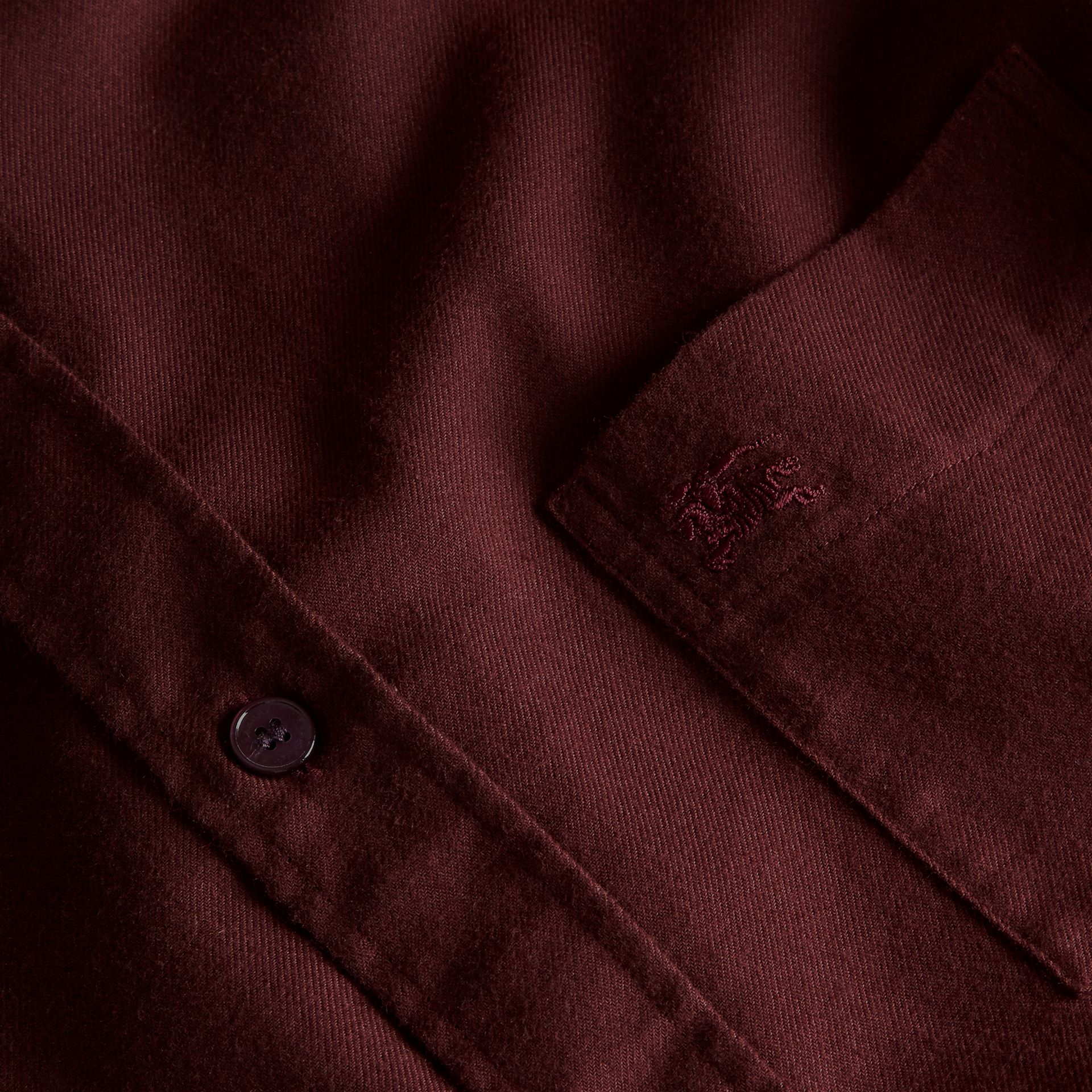 Dark elderberry Check Detail Cotton Flannel Shirt Dark Elderberry - gallery image 2