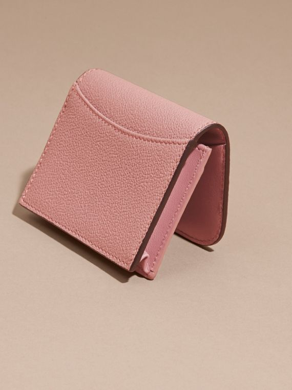 Grainy Leather Card Case in Dusty Pink - cell image 3