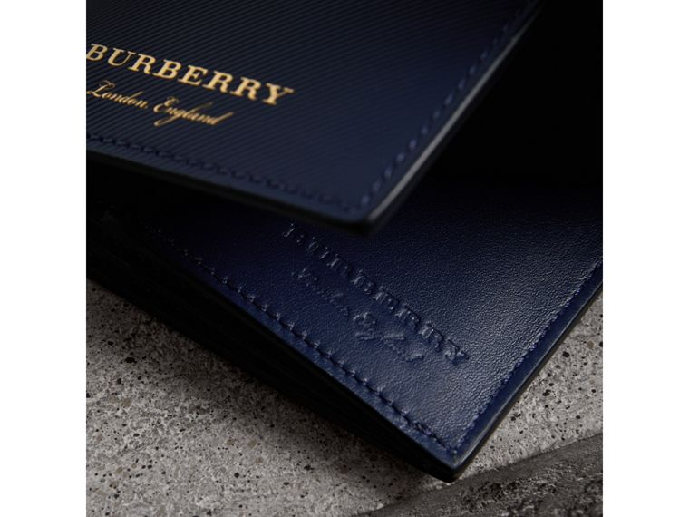 Trench Leather Continental Wallet in Ink Blue - Men | Burberry Canada - cell image 1