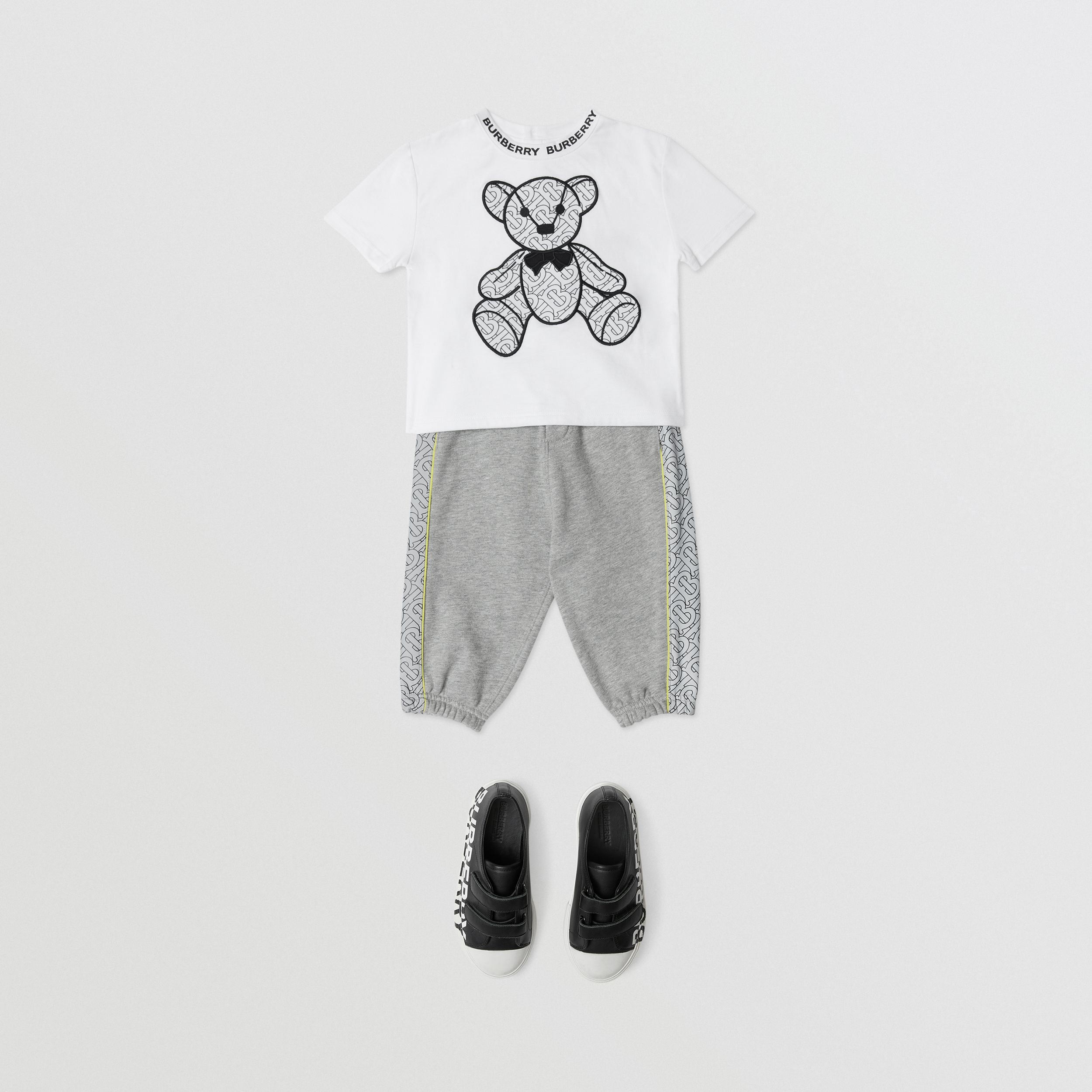 Thomas Bear Appliqué Cotton T-shirt in White - Children | Burberry - 3