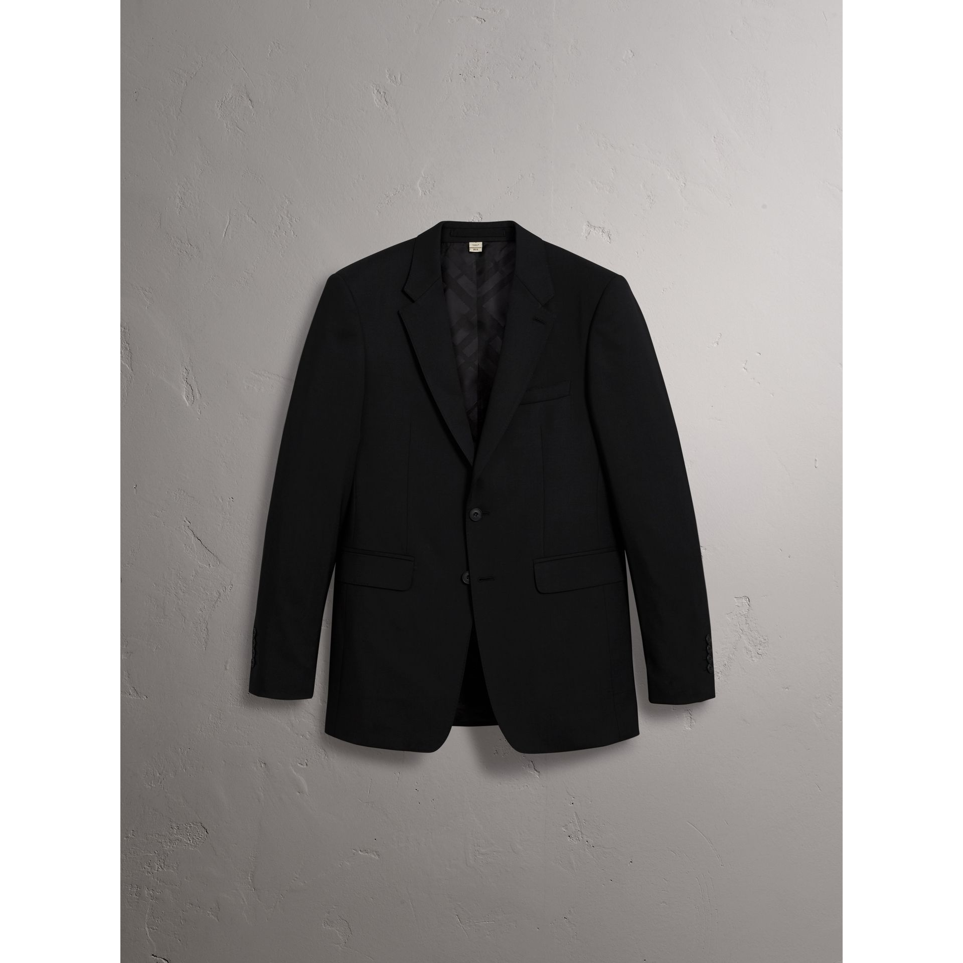 Modern Fit Wool Part-canvas Suit in Black - Men | Burberry United States - gallery image 4