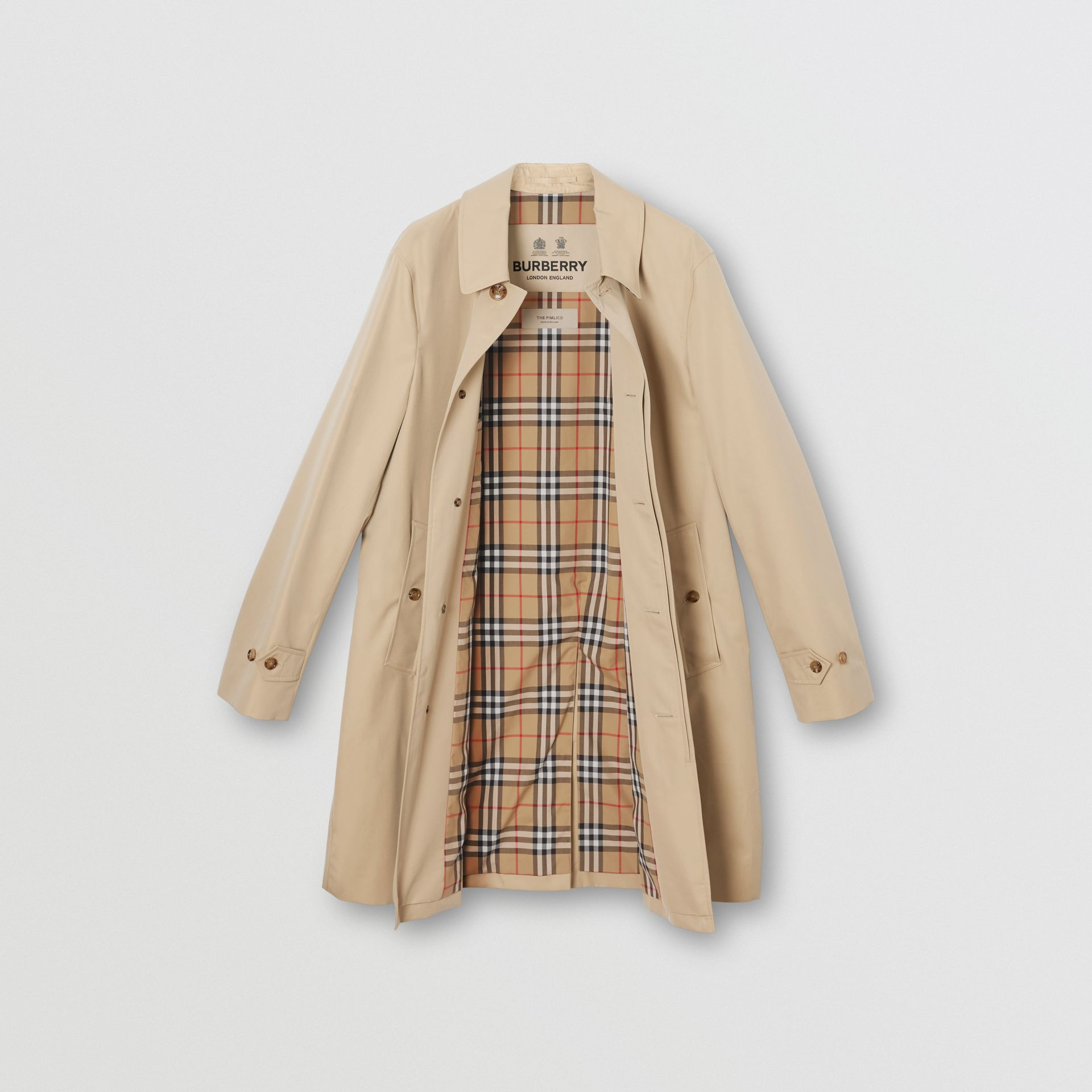 The Pimlico Heritage Car Coat (Honiggelb) - Herren | Burberry - Galerie-Bild 8