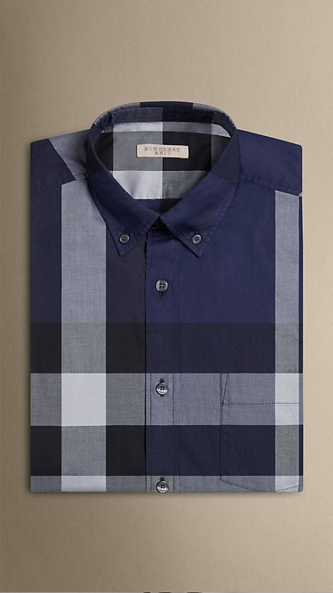 Ink Giant Exploded Check Cotton Shirt - Image 4