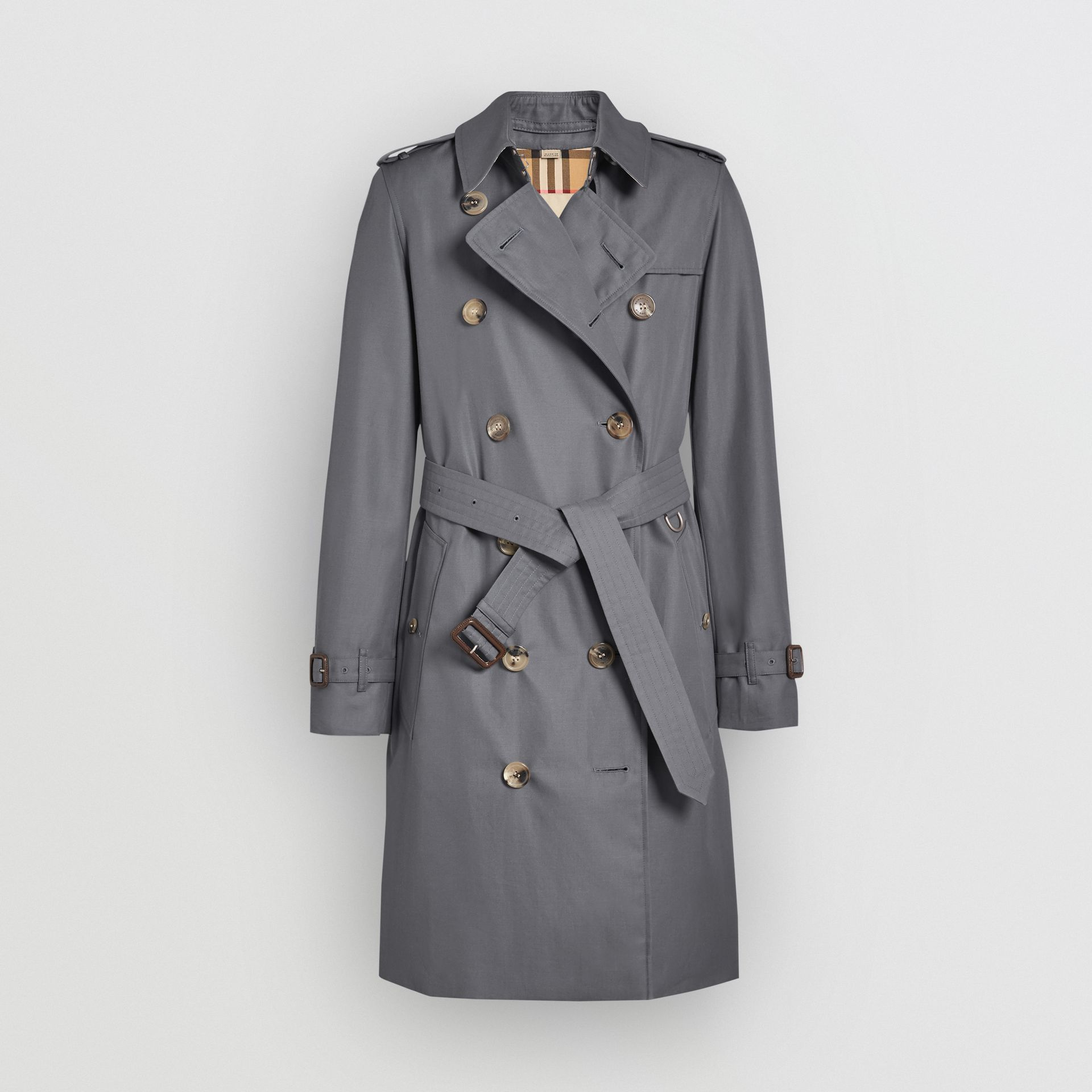 The Kensington Heritage Trench Coat in Mid Grey - Women | Burberry - gallery image 4