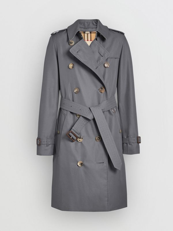 The Kensington Heritage Trench Coat in Mid Grey - Women | Burberry United Kingdom - cell image 3