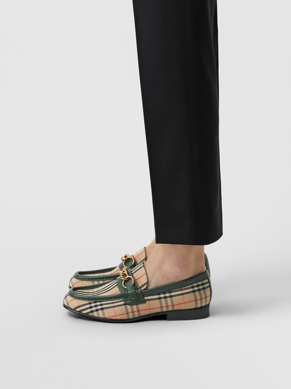 The 1983 Check Link Loafer in Dark Forest Green - Women | Burberry Australia - cell image 2