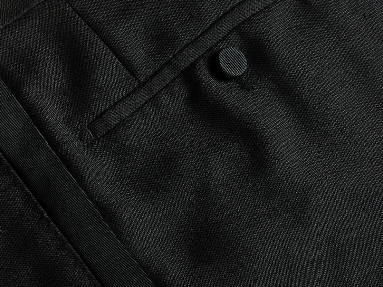 Modern Fit Wool Mohair Tuxedo Trousers in Black - Men | Burberry - cell image 1