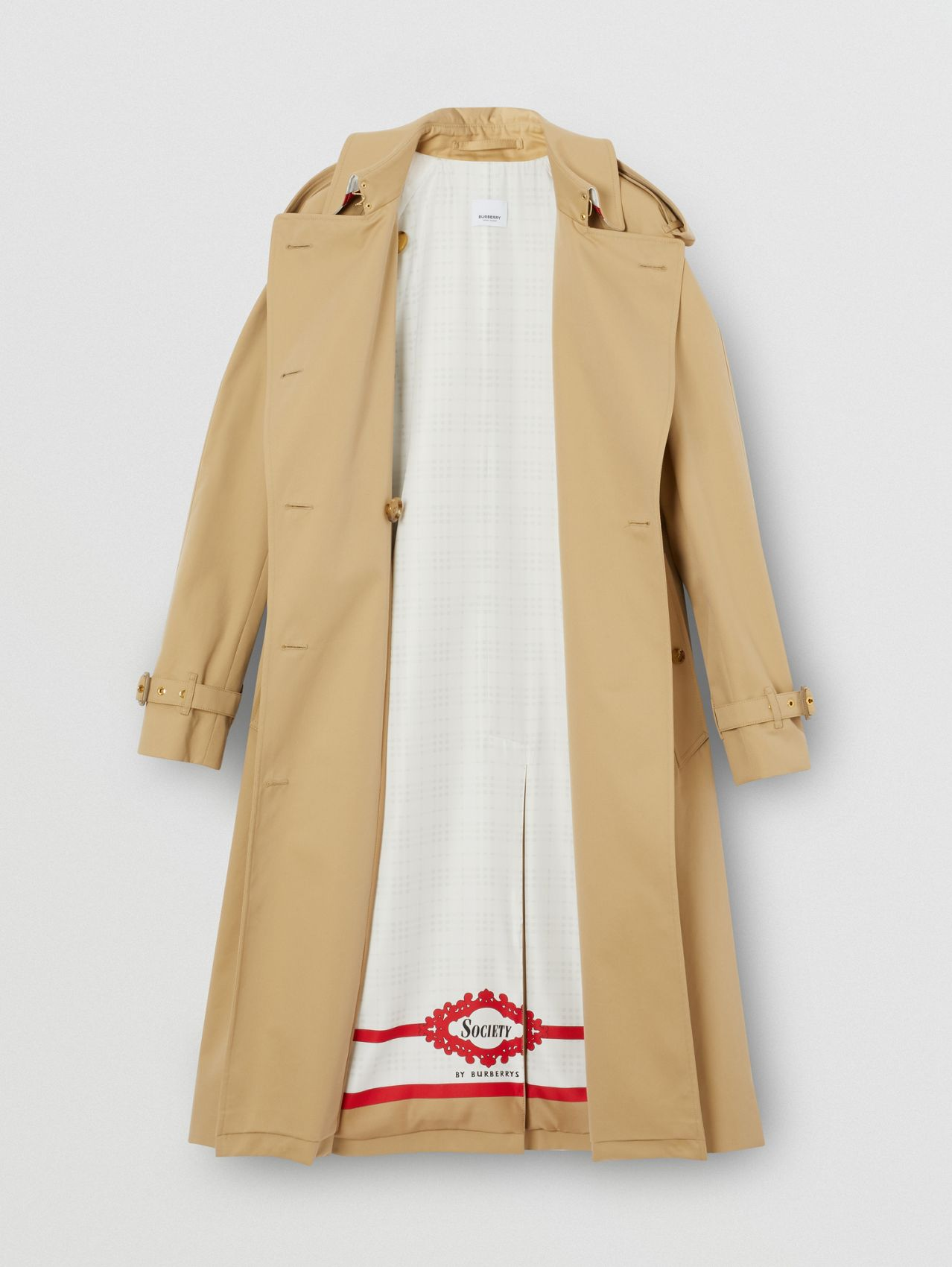 Archive Scarf Print-lined Trench Coat