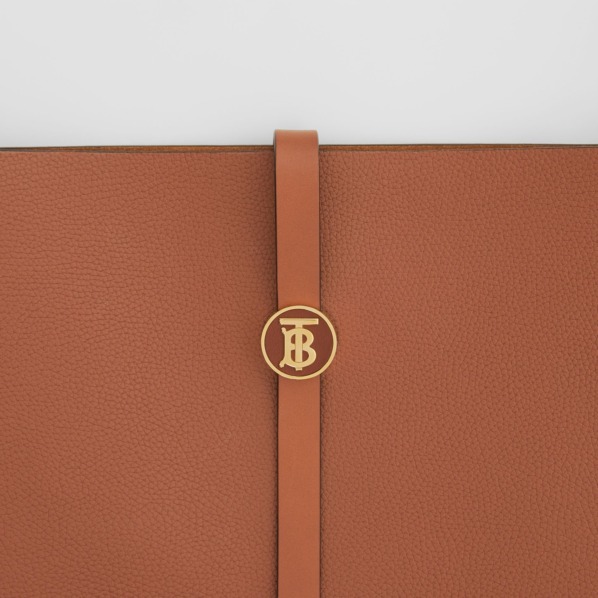 Grainy Leather Anne Bag in Tan - Women | Burberry United Kingdom - gallery image 1