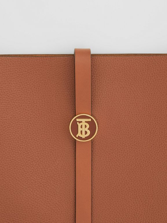 Grainy Leather Anne Bag in Tan - Women | Burberry United Kingdom - cell image 1