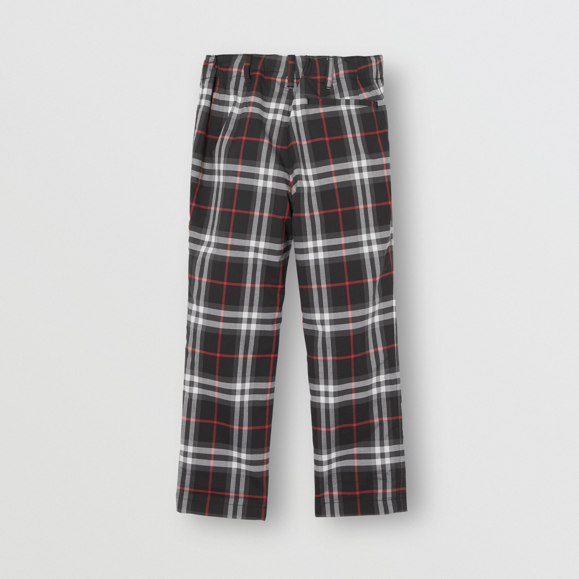 Vintage Check Cotton Tailored Trousers in Black - Boy | Burberry - gallery image 3