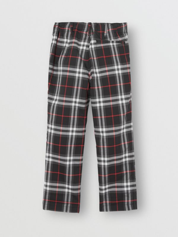 Vintage Check Cotton Tailored Trousers in Black - Boy | Burberry - cell image 3