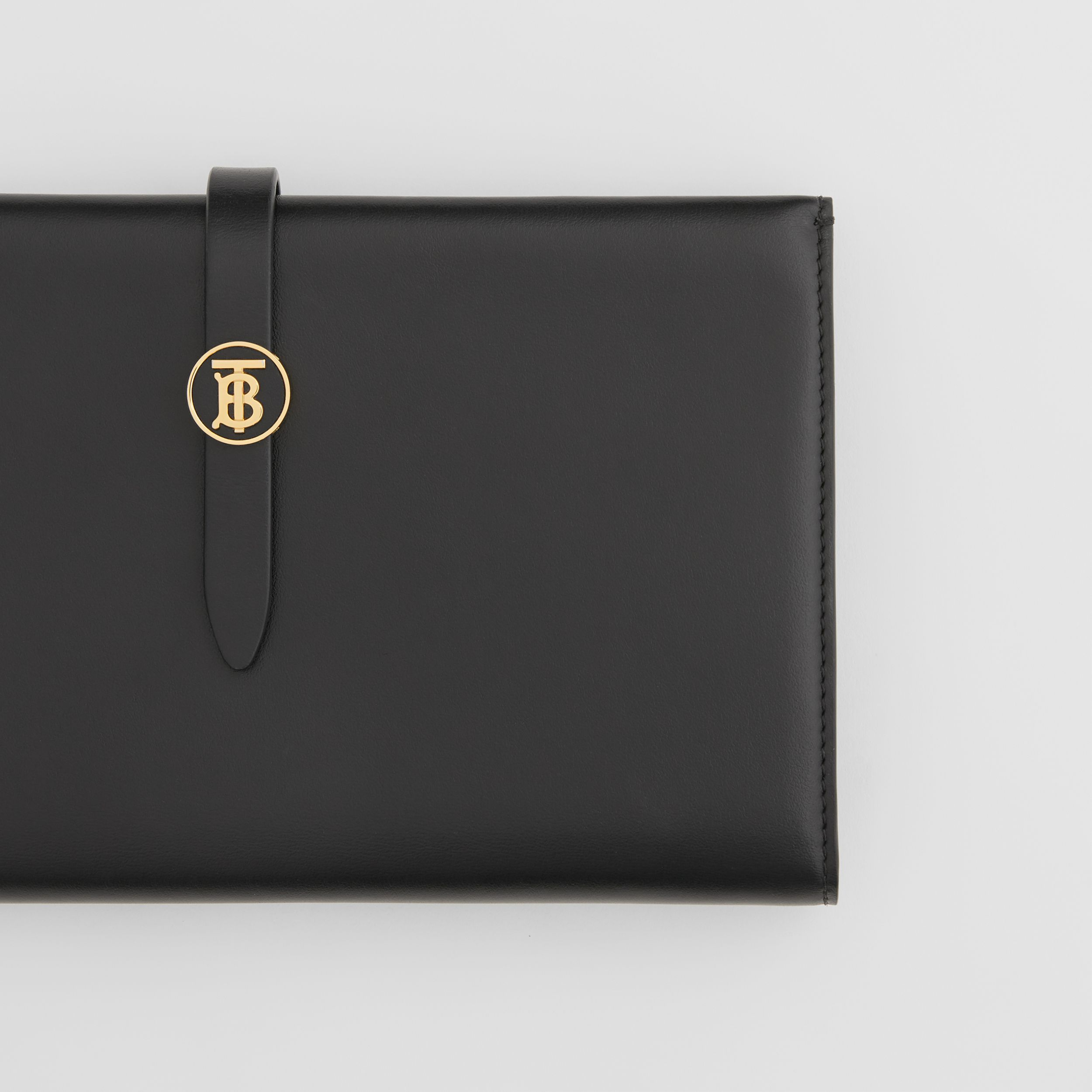 Large Monogram Motif Leather Folding Wallet in Black - Women | Burberry Hong Kong S.A.R. - 2